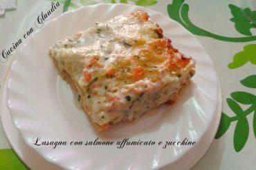 Lasagne con salmone affumicato e zucchine