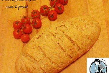 Pane con farina integrale e semi di girasole
