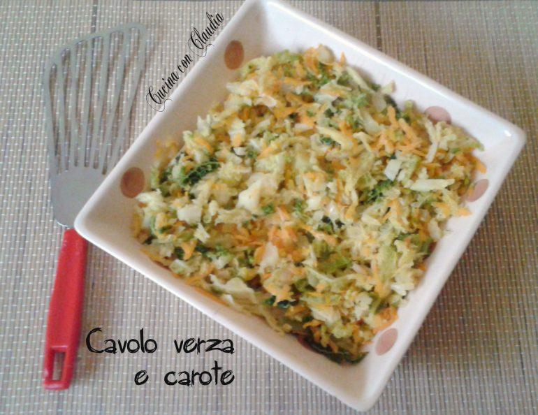Cavolo verza e carote