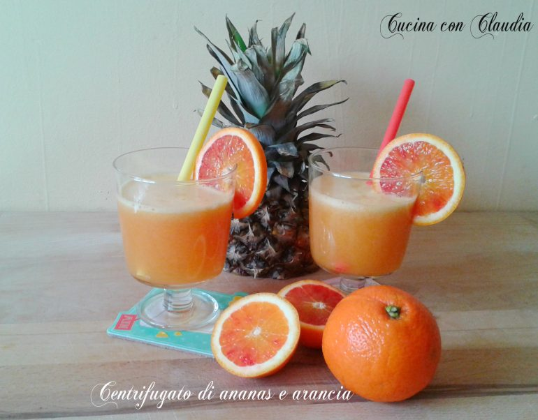 Centrifugato di ananas e arancia