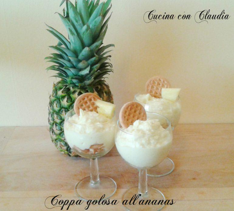 Coppa golosa all'ananas