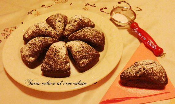 Torta veloce al cioccolato