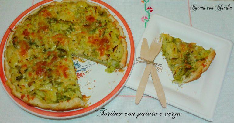 Tortino di patate e verza