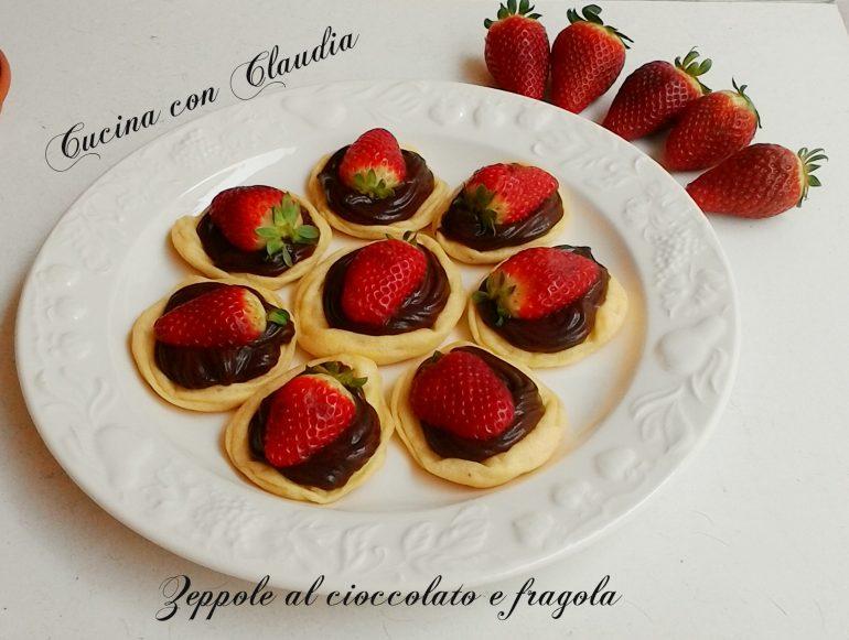 Zeppole al cioccolato e fragola