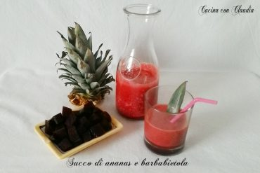 Succo di ananas e barbabietola