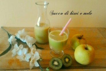 Succo di kiwi e mele