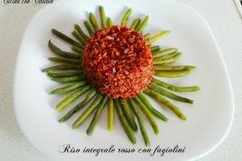 Riso integrale rosso con fagiolini