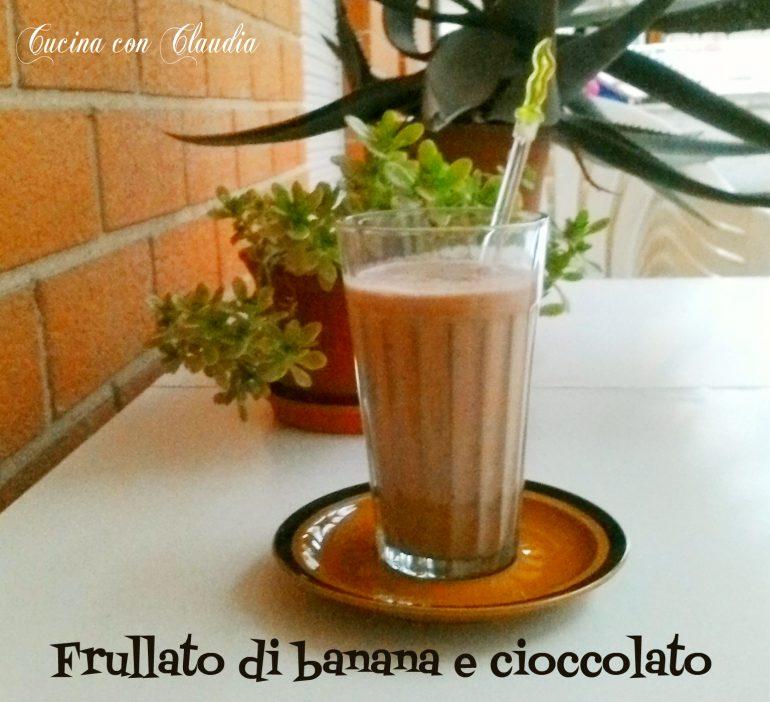 Frullato di banana e cioccolato