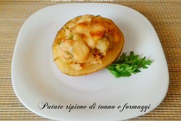 Patate ripiene di tonno e formaggi