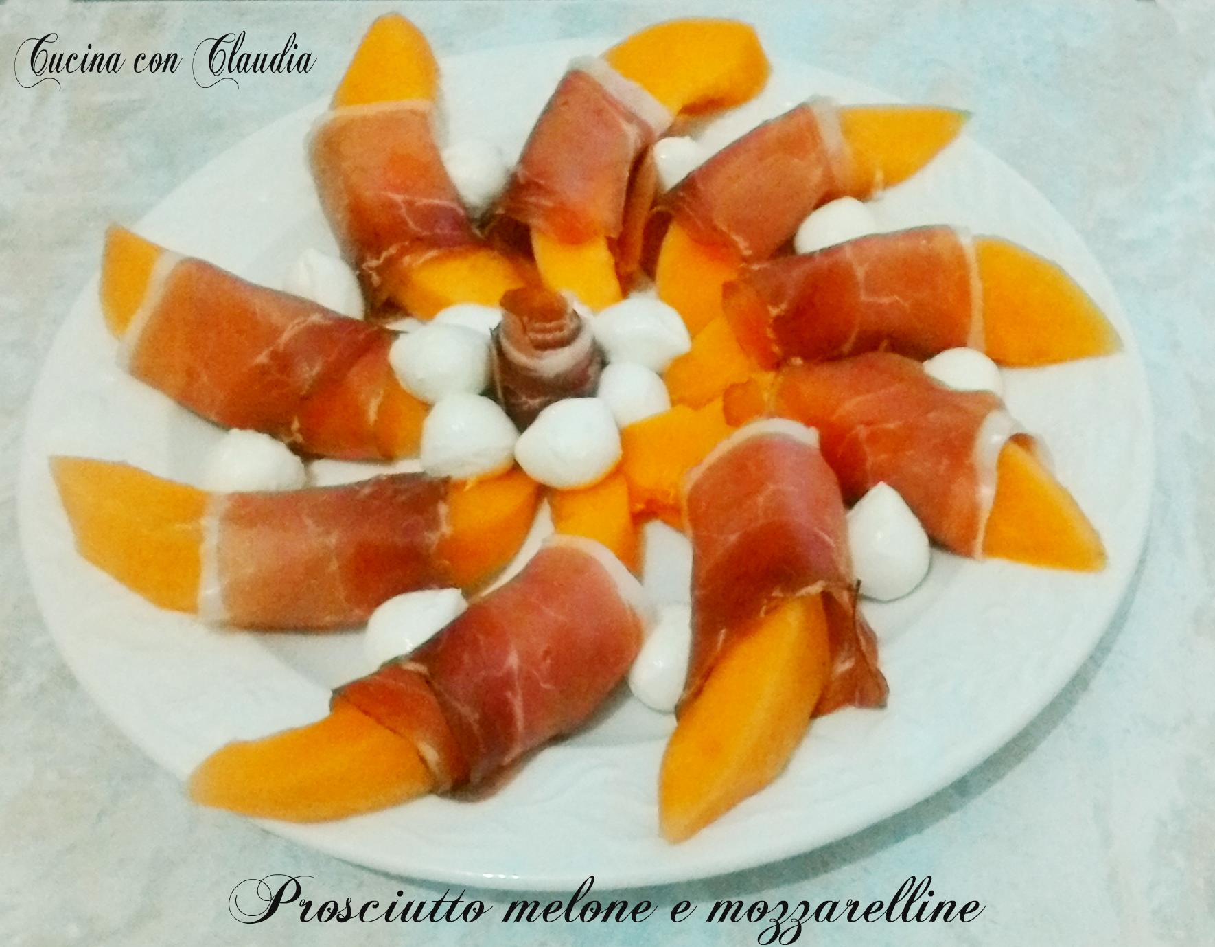 Presentazione Piatto Prosciutto E Melone.Prosciutto Melone E Mozzarelline Cucina Con Claudia
