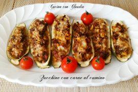 Zucchine con carne al cumino