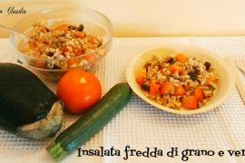 Insalata fredda di grano e verdure