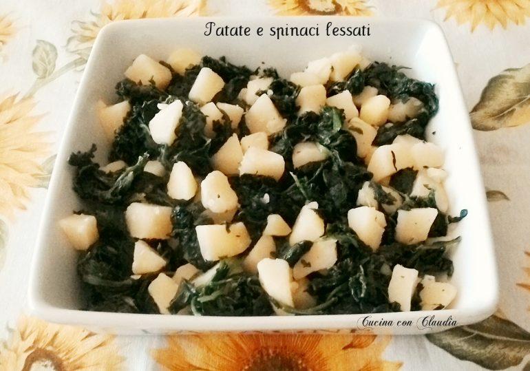 Patate e spinaci lessati