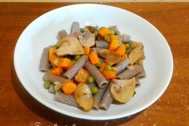 Tortiglioni di grano saraceno con verdure