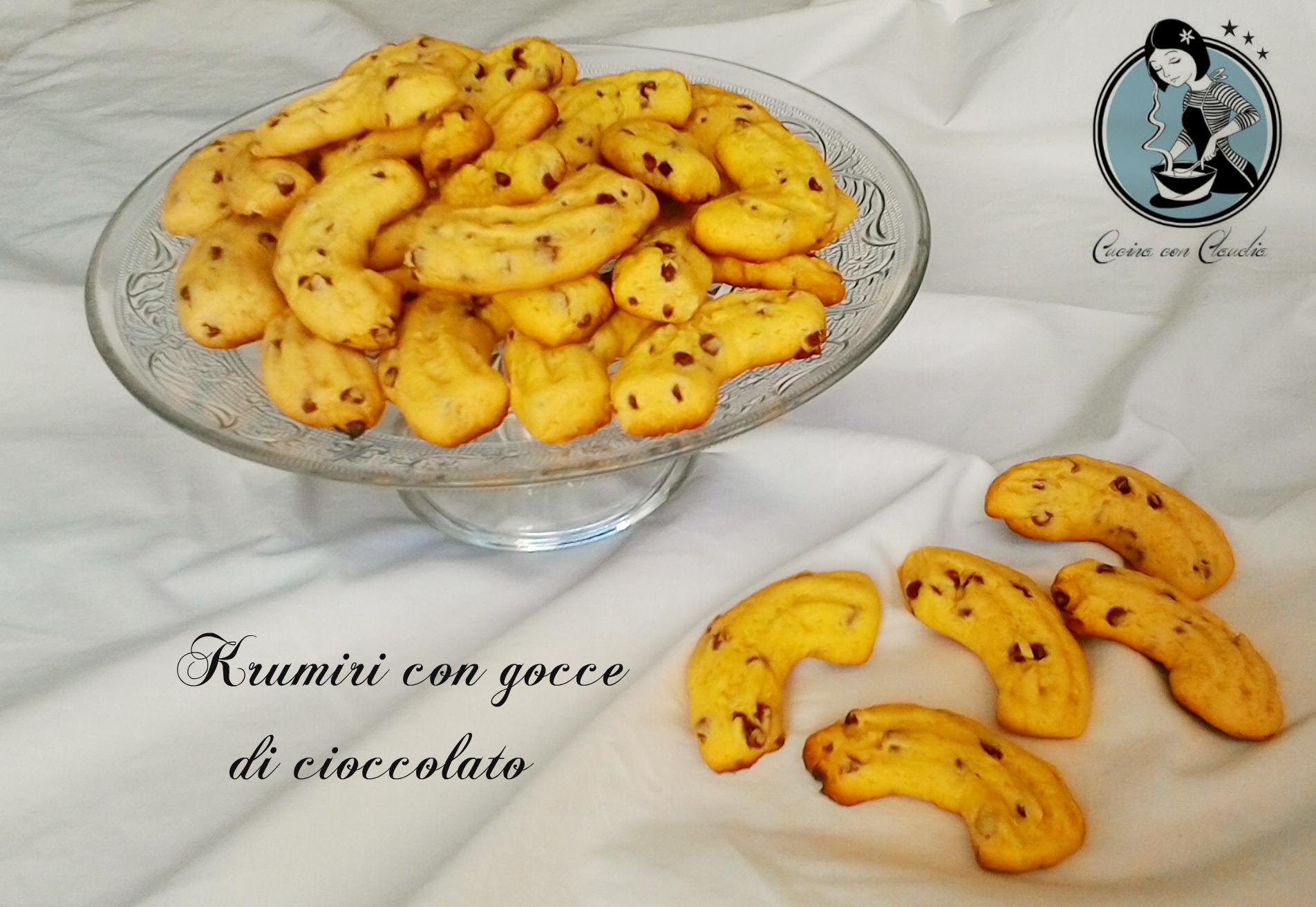 Ricetta Krumiri Con Gocce Di Cioccolato.Krumiri Con Gocce Di Cioccolato Cucina Con Claudia