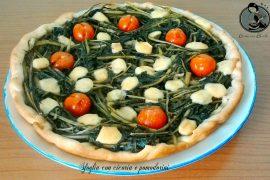 Sfoglia con cicoria e pomodorini