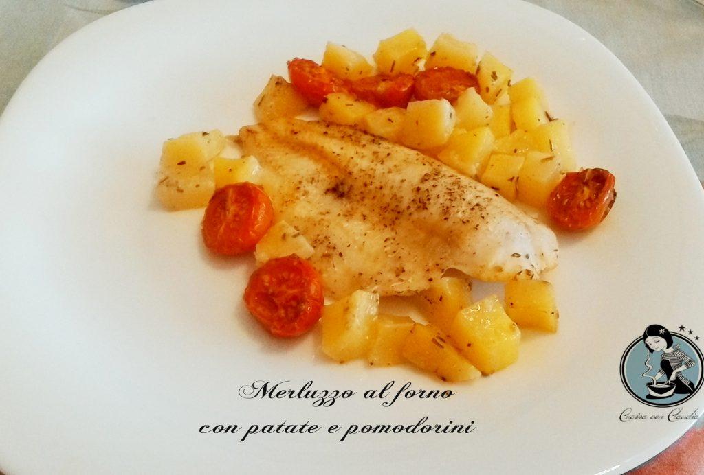 Merluzzo Al Forno Con Patate E Pomodorini Cucina Con Claudia