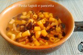 Pasta fagioli e pancetta