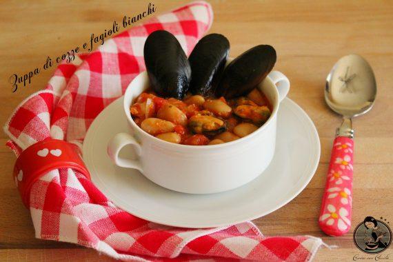 Zuppa di cozze e fagioli bianchi