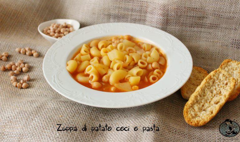 Zuppa di patate ceci e pasta