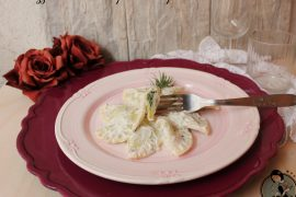 Mezzelune ricotta e spinaci alla panna