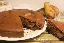 Torta di pere cacao e gocce di cioccolato