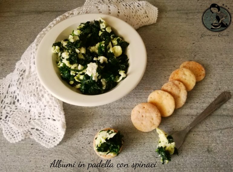 Albumi in padella con spinaci
