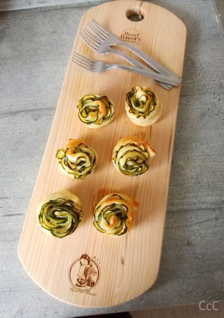 Fiori di zucchine e pasta sfoglia