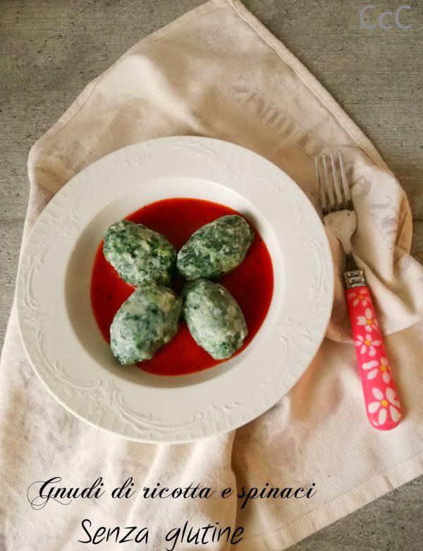 Gnudi di ricotta e spinaci senza glutine