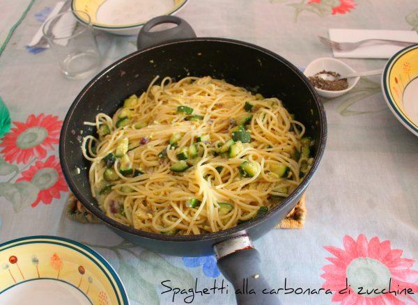 Spaghetti alla carbonara di zucchine