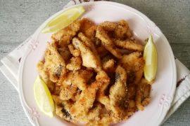 Straccetti di pollo impanati e cotti in forno