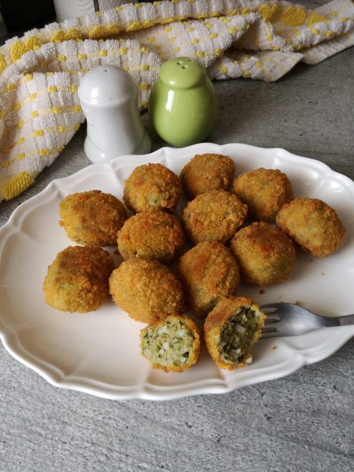 Crocchette di pollo riso e spinaci