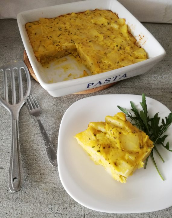 Frittata di patate cotta in forno